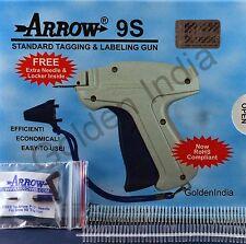 "Arrow Tagging Gun 1000 WHITE 3"" Tag Pin Extra Needle Cloth Price Label Attacher"