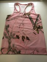 Under Armour EVO HeatGear Camo Tank Top Realtree Pink Semi Fitted Athletic Sz M