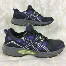 ASICS GEL VENTURE 4 trail running shoes purple/lime T383N . eu37.5 women's 6,5