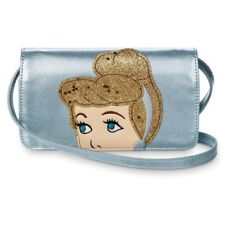 Disney Cinderella Danielle Nicole Crossbody Bag Purse Wallet Phone Nwt Blue Gold