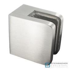 Edelstahl Glashalter 45 x 45mm Glasklemme Blechklemme Klemme V2A V4A