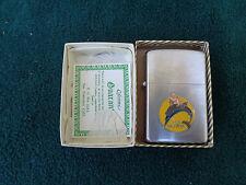 VINTAGE VULCAN LIGHTER ADVERTISING U.S.S. HALFBACK 352 ENAMEL NIOB NEVER USED