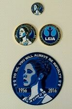 Star Wars Princess Leia Carrie Fisher 2016 Memorial 3-pcs Set Coin, Patch, & Pin