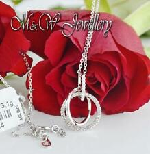 925 STERLING SILVER RHODIUM PLATED NECKLACE CIRCLES WITH ZIRCONIA