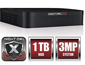 Night Owl 3MP 8 CH DVR w/ 1TB HDD DVR THD30B-81