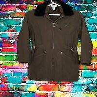Jennifer Moore Activewear Winter Ski Puffer Jacket Brown Women's Size M Medium