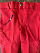 QHP English Riding Breeches Pants Stretch Front Pocket Belt LoopRed Girls