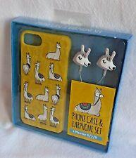 Llama - Phone Case & Earphone Set - For iPhone 6/7/8 - Brand New