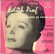 """EDITH PIAF """"LA GOUALANTE DU PAUVRE JEAN"""" 50'S EP COLUMBIA 1022"""
