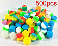500pcs 2ml Silicone Container Jar Non-Stick Mixed colors Round Wholesale lot