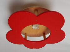 techo Niños Lámpara Reflector Flor Rojo madera 1 QUEMADOR HAB. de niños NUEVO