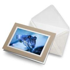 Tarjeta De Saludos (Biege) - sepia calamar Pulpo #3221