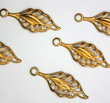 12 x Brass Leaf Component Jewellery Findings Limited Edition BC697