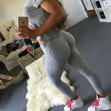 Women High Wasit Butt Lift Yoga Fitness Leggings Sports Pants Stretch Trousers S