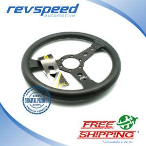 Luisi Italy Racing Vintage Steering Wheel Falcon S Black Tanegum Rubber 340mm
