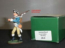 King and Country ar32 American Révolution French soldier Marching toy soldier