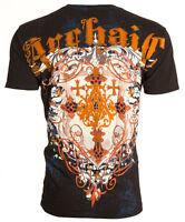 Archaic AFFLICTION Men T-Shirt ACLE Cross Tattoo Fight Biker MMA UFC L-4XL $40 a