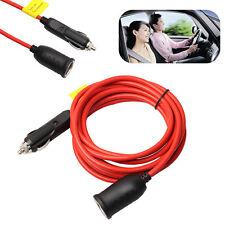 12V/24V Car Truck Cigarette Lighter Plug Socket Extension Cable Cord Wire 3.6M