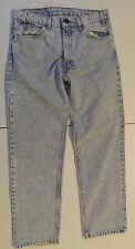 Vintage Orange Tab 505 Levis Acid Wash Blue Jeans Made In USA 34x30