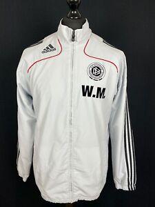 Adidas Deutschland Track Jacket Men's Size M Trainer Issued Soccer Tracksuit Top