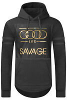NEW Men Hooded Good Life Gold Embossed Sweater SAVAGE Pullover Sizes S-3XL