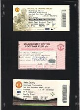 MATCH DAY TICKET for the Manchester United vs Derby County at Old Trafford.