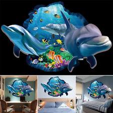 Novel Dolphin Ocean Sea Animal Bathroom Wall Stickers Mural Vinyl Art Decal Prop