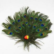10pcs lots Real Natural Peacock Tail Eyes Feathers 8-12 Inches /about 23-30cm @T