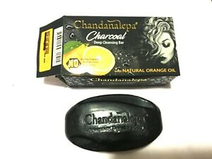 CHANDANALEPA - CHARCOAL Deep Cleansing Bar with 100% Natural Organic Oil Soap