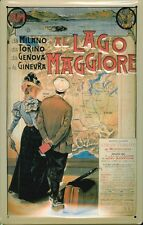 Blechschild Nostalgieschild Lago Maggiore Italien 20x30 cm