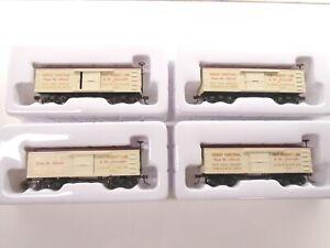 Bachmann Ho Old Time Box Cars(4), NYC & Hudson River