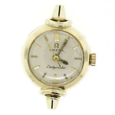 Vintage Petite 14K Yellow Gold Swiss Omega Ladymatic Automatic 17J Wrist Watch