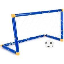 NEW KIDS CHILD FOOTBALL GOAL POST NET BALL PUMP SET TOY INDOOR OUTDOORS