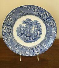 Antique 19th Century PATRAS Blue Transferware Dinner Plate circa 1830