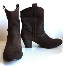 Ash women's brown suede leather boots size 8 M 38