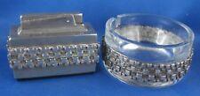Feuerzeug mit Aschenbescher mit Silbermontur Alfred Bodemer 835er Silber
