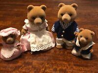 Calico Critters Sylvanian Families VINTAGE MARMALADE BEARS RARE HTF