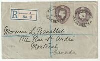 1908 RARE KEVII POSTAL STATIONERY ENV +EXTRA CUT OUT REGISTERED COLCHESTER ES41b