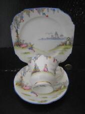 Unboxed British Aynsley Porcelain & China Tea Trio