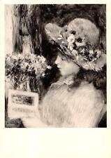 """vintage greeting artistcard Auguste Renoir , reading girl """"2881"""""""