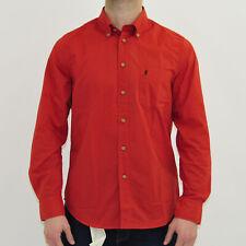 Camicia uomo S Marlboro Classics MCS cotone con taschino rossa regular fit 4472