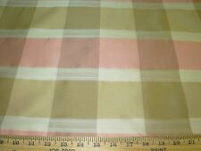 "~4 YDS~FAUX SILK ""CHECKERED PLAID""~ DRAPERY UPHOLSTERY FABRIC FOR LESS~"