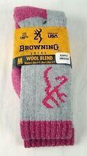 Womens Browning IMPERFECT Medium Weight Wool Blend Boot Sock Size Medium 6-9