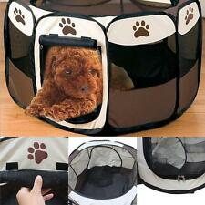 Portable New Small Pet Dog Cat Tent Playpen Exercise Play Pen Soft Crate Black