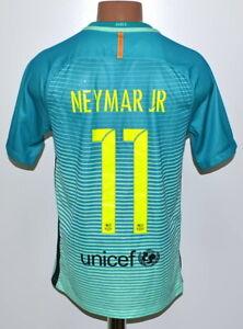 BARCELONA 2016/2017 THIRD FOOTBALL SHIRT JERSEY NIKE #11 NEYMAR JR SIZE S ADULT