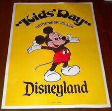 "NICE RARE VINTAGE DISNEYLAND KIDS' DAY MICKEY MOUSE POSTER 14 1/4"" X 19"""