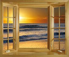 Sticker fenêtre Couché de soleil 50x60cm réf F503