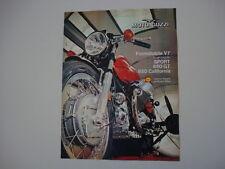 advertising Pubblicità 1973 MOTO GUZZI V 7 V7 SPORT/850 GT/CALIFORNIA