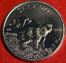 2011 CANADIAN GRIZZLY DESIGN 1oz 999% SILVER WILDLIFE SERIES COLLECTOR COIN GIFT