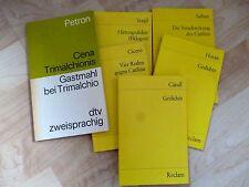 Lateinische Übersetzungen von Cicero, Vergil, Catull, Sallust, Horaz und Petron